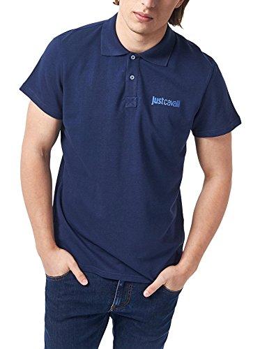 polo-just-cavalli-uomo-men-homme-t-shirt-100-cotone-colletto-contrasto-navy-xl