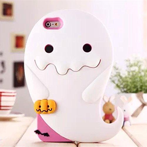 Cute 3D Cartoon Luminous Apparition Ghost Pumpkins Custodia Cover Case Soft Silicone Cover per iPhone 5 5S
