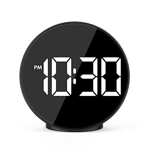 YELLOL Digitaler Wecker, Led-Anzeige Sprachsteuerung Elektrische Uhr, Zeit Temperatur Wohnkultur Tischuhr Wake Up Light (Wecker Bett, Elektrische)