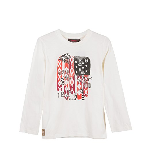 Catimini Jungen T-Shirt TS ml Conte HIV, Grau (Craie 12), 8 Jahre (Hersteller Größe: 8A)