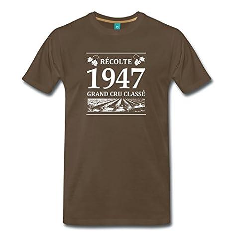 Anniversaire Récolte 1947 Grand Cru Classé T-shirt Premium Homme de Spreadshirt®, XL, marron bistre