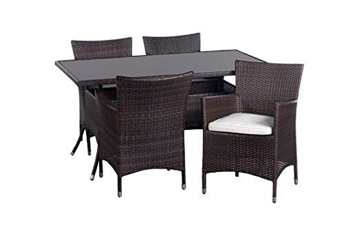 Homestyle 46041 Diningset Monaco 5-er packung steel frame naturel