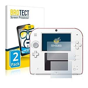 BROTECT Schutzfolie kompatibel mit Nintendo 2DS (2 Stück) klare Displayschutz-Folie