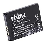 vhbw Li-Ion Akku 900mAh (3.7V) für Handy Telefon Smartphone SonyEricsson K310c, K310i, K510a, K510c, K510i, K600, K600i, K608i wie BST-37.