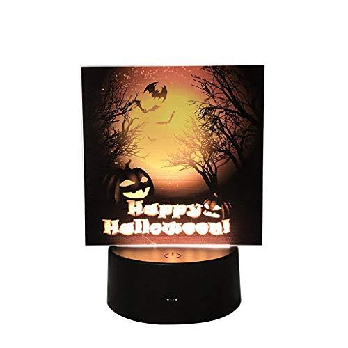 Werwolf Muster Kostüm - QHJ Halloween Accessoires, Halloween Kürbis Schläger Muster Nachtlicht Szenen Plan Stützt Nachtdekoration Halloween Kürbisschlägermuster Nachtlichtszenenplan (F)