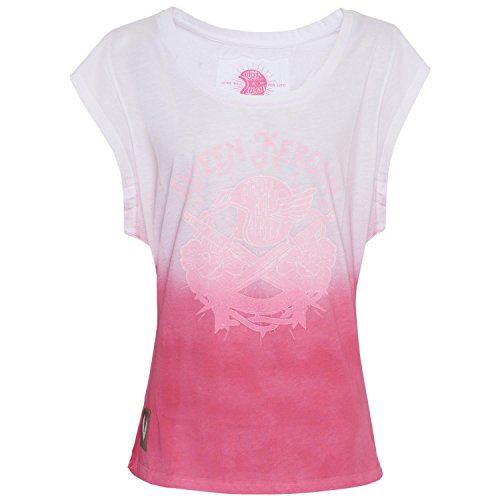 Queen Kerosin - The Holy Ride - DipDye-Shirt - White to Pink - King Kerosin 103