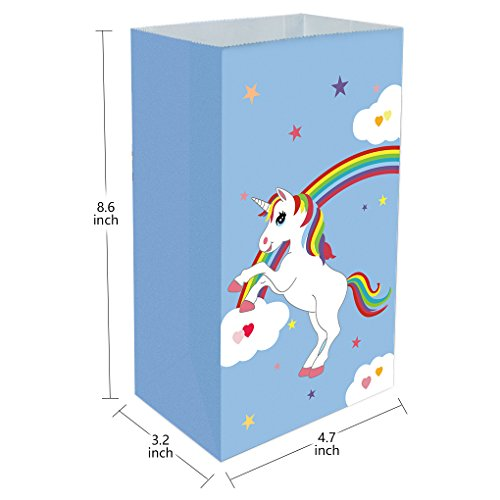 Forbestest 30pcs Einhorn Muster Öl-Proof Paper Bags Handpapier Snacks Geschenktüte Partyzubehör...