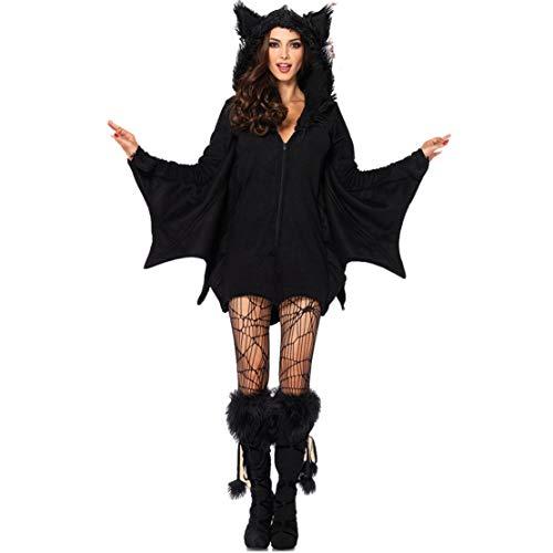Wetry Costume da Pipistrello Donna Abbigliamento Halloween Carnevale Cosplay Set