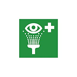 Rescue Sign Eye Wash Symbol Furniture in accordance with ISO 7010 Description: 200x200 mm F