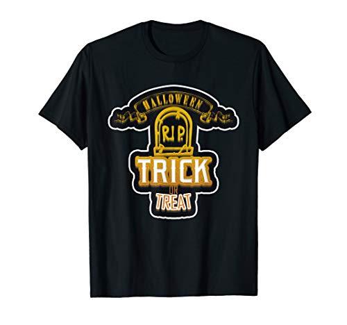 Funny Happy Halloween RIP Grab Trick or treat Damen Herren  T-Shirt