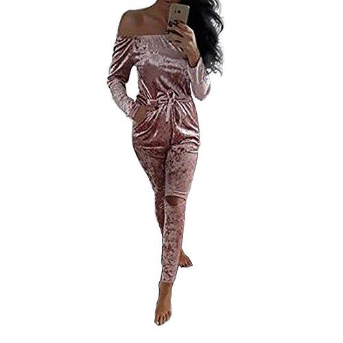 langarm hosenanzug jumpsuit damen playsuit bluse elegant. Black Bedroom Furniture Sets. Home Design Ideas
