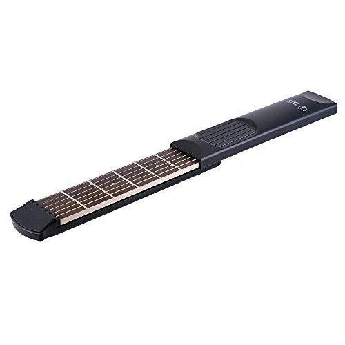 ammoon Portátil Guitarra Acústica Bolsillo Herramienta Práctica Gadget 6 Cuerdas 6 Fret Modelo para el Principiante