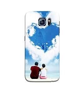Fuson couple sitting behind seashore Designer Back Case Cover for Samsung Galaxy Grand Neo Plus I9060I :: Samsung Galaxy Grand Neo+ -P-1443