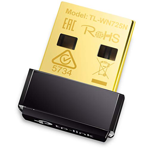 TP-Link TL-WN725N Nano WLAN USB Adapter (bis zu 150Mbit/s, Nano Größe, Soft AP, geeignet für Windows 10/8.x/7/XP, Mac OS 10.9~10.13, Linux) schwarz