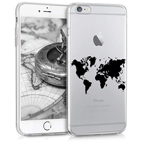 kwmobile Apple iPhone 6 Plus / 6S Plus Hülle - Handyhülle für Apple iPhone 6 Plus / 6S Plus - Handy Case in Schwarz Transparent