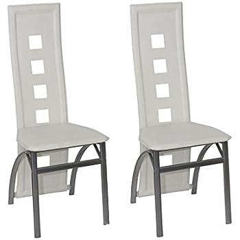 vidaxl sedie moderne ecopelle bianche per salotto e cucina 2 pezzi ... - Sedie Per Soggiorno In Pelle 2