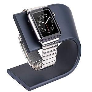 Finsink Aluminium Uhr Stand für Apple Watch,Ständer Halter Tischständer mit U-förmigem Design