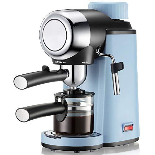 Macchina Per Caffe Italiana Per Espresso E Cappuccino Con Vaporizzatore, 4 Tazze Di Caffe, Pressione Di 5 Bar, 800W