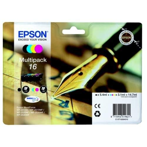 Epson C13T16264012(confezione da 16)-cartucce, 175PG + 3x 165PG, 1x 5.4ml + 3x 3.1ml, confezione da 4