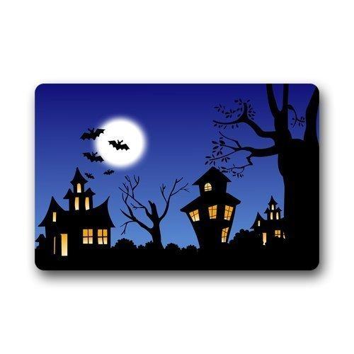UYTGYUHIOJ Halloween Theme Moon Night Bats Custom Doormat Door Mat/Indoor (Hause Niedliche Halloween-ideen Zu Machen Zu)
