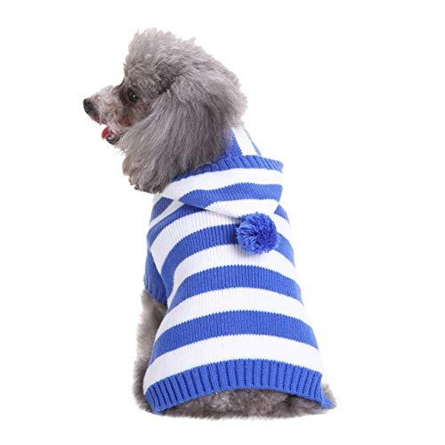 Bluelucon Haustier Kapuzenpulli Weihnachten Hundekleidung Kostüm Hund Katze Welpen Winter Warme Kleidung Jacke Mantel ()
