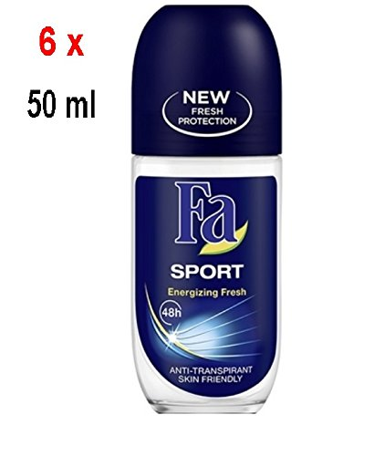 "6 x FA Deo Roll-on Unisex ""SPORT"" - 50 ml"