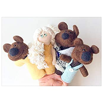 """Fingerpuppen """"Goldlöckchen und die drei Bären"""""""