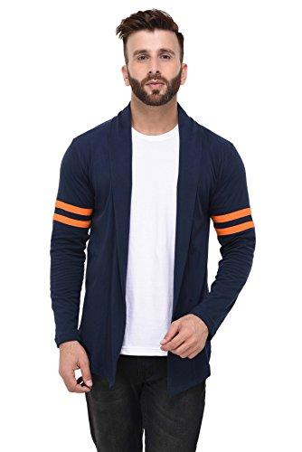 Rigo Men's Cardigan (LC09171007-XL Navy Blue X-Large)