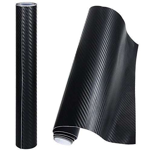 Anpro 2 Rollos Vinilo Coche Fibra de Carbono Adhesiva 3D / Cubierta...