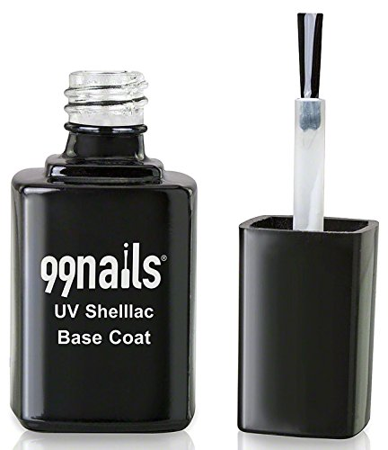 99nails Shellac Base Coat 1er Pack (1 x 12 ml) Made in Germany UV Shellac UV Nagellack Schellack Gellack Klar