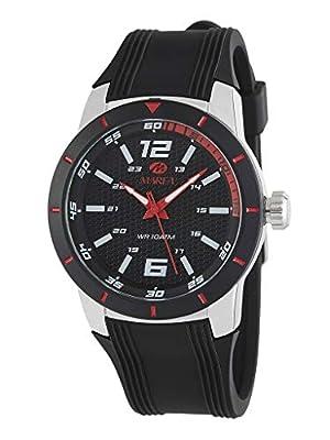 Reloj Marea Analógico Hombre B35292/2 Correa Silicona Negra y Detalles en Rojo