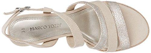Marco Tozzi 28705, Sandali con Cinturino Alla Caviglia Donna Beige (Dune Comb)