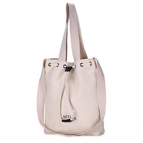 WTUS Damen Neu Art und Weise Handtaschen -Koreanische Frauen-Schultertasche Messenger Bag Beuteltote Weiß
