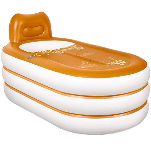 Baignoire Gonflable Adulte en Plastique Jaune Famille européenne Pliable 75 * 45 cm Baignoires et sièges de Bain