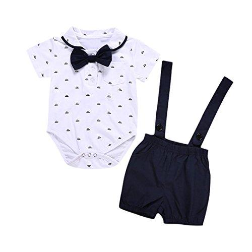 Jungenkleidung, Sonnena 2pcs Baby Kleikind Junge Kurzarm Krawatte -