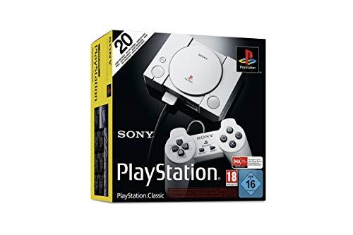 Sony PlayStation Classic. Color del producto: Gris. Voltaje de entrada AC: 5 V. Peso: 170 g, Ancho: 149 mm, Profundidad: 105 mm. Cables incluidos: HDMI, Controlador incluido: Gamepad Puertos e Interfaces -Número de puertos HDMI: 1  Peso y dimensiones...