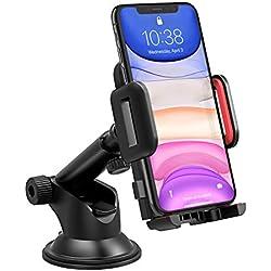 Mpow Supporto Smartphone per Auto Culla Regolabile per Cruscotto Dashboard Parabrezza, Porta Cellulare per Molti Smartphone e DisposidiviSwitch, GPS - Rosso
