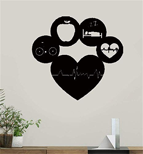 adesivo murale 3d avengers healthy lifestyle living sports gym fitness dieta cardio