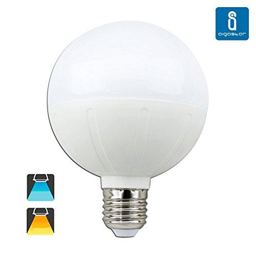 Aigostar 181802 - Bombilla LED G95, tipo globo, de 18 W, rosca grande y luz cálida