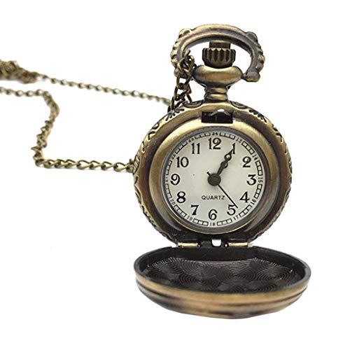 ESden Vintage Taschenuhr Quarz Rose Blume Hollow Bronze Charm Schmuck Anhänger Classic Persönlichkeit Kette Geschenk
