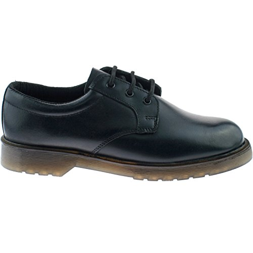 <span class='b_prefix'></span> Grafters DENVER Mens Leather Air Cushioned Uniform Shoes Black