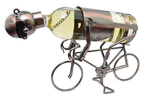 Flaschenhalter Flaschenständer Weinständer Weinhalter Fahrrad Metall Kupfer