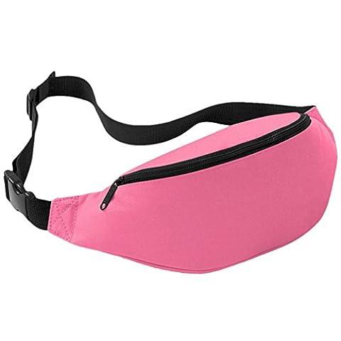 Coolster Sport Outdoor Running Taille Tasche Radfahren Taille Gürtel Tasche (Rosa)