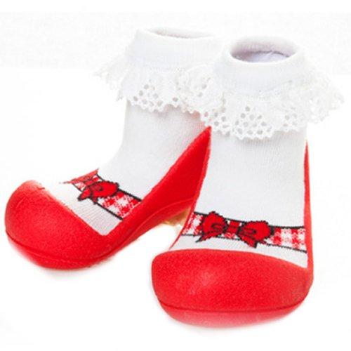 Attipas Ballet Red AB01 Lauflernschuhe Jungen & Mädchen EU 22.5 Rot