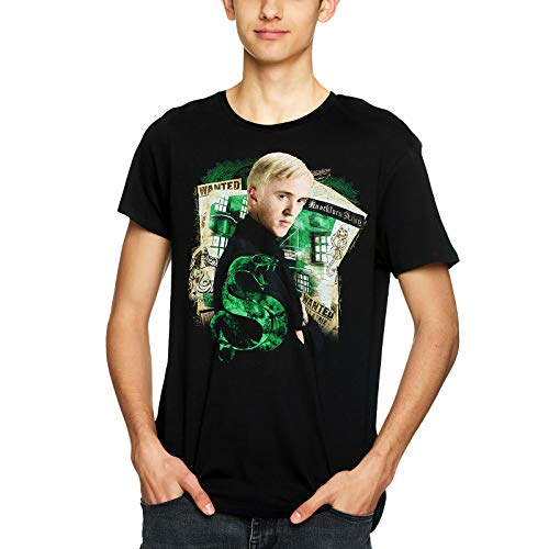 Elbenwald Harry Potter Herren T-Shirt Draco Malfoy Baumwolle schwarz - XXXL