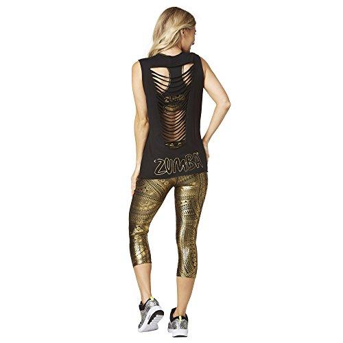 Zumba Fitness Z1T01303 Débardeur Femme, Bold Black, FR : M (Taille Fabricant : M)
