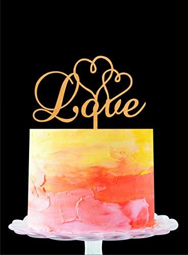 Décoration de gâteau d'amour, décoration de gâteau de mariage, décoration de gâteau de Philadelphie, décoration de gâteau de mariage, de fiançailles, décoration de gâteau rustique