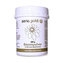 Senagold Basenpulver 300g mit der 3-fach Wirkung (1) zur natürlichen Entsäuerung (2) für Ihre Knochengesundheit (3) deckt Ihren Calcium- und Magnesiumbedarf