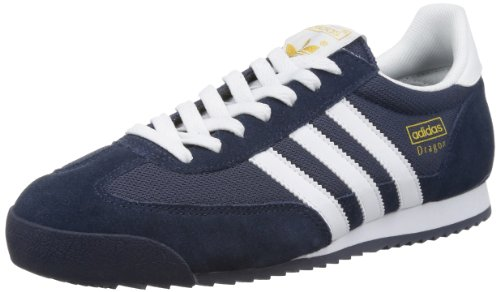 adidas Originals Herren Dragon Sneakers, Blau (NEW NAVY / WHITE / METALLIC GOLD), 43.1/3 EU (9 UK) (Originals Dragon Adidas)