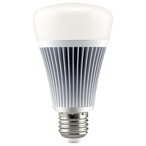 LIGHTEU®, 9W E27 DMX512 RGB + CCT LED Glühbirne, Farbe und Farbtemperatur einstellbar, DMX512 LED Bedienfeld oder Fernbedienung steuerbar, Fut D04 Video-transmitter-rf Link